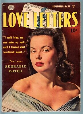 Love Letters #13-1951-Spicy Photo Cover-Quality-Vg-Rare Pre-Code Lingerie P Vg