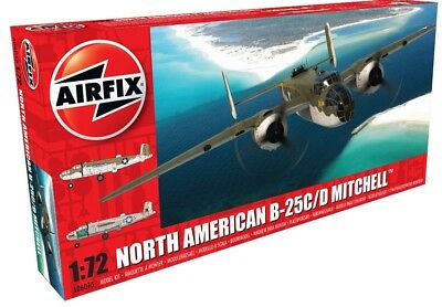 New Airfix 1:72nd Scale North American B-25C/D Mitchell Model Kit.