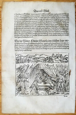 Livius History of Rome Post Incunable Woodcut Schoeffer (26) - 1530