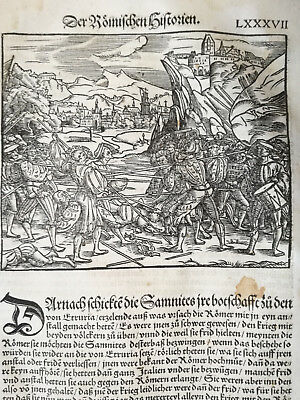 Livius History of Rome Post Incunable Woodcut Schoeffer (87) - 1530