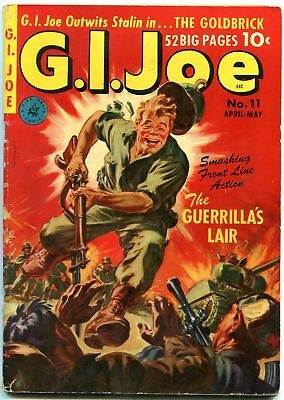 Gi Joe #11 1952-Saunders War Cover-Ziff Davis-2Nd Issue Vg