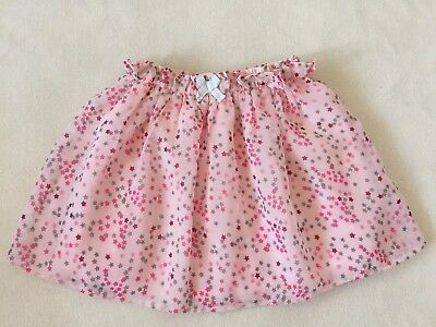 M & Co Baby Girls Pink Skirt Stars 12-18 months Occasion Pretty