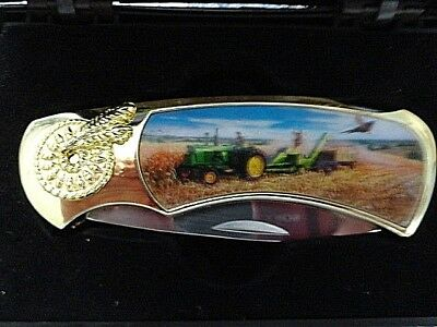 John Deere Collectible Folding Pocket Knife New in Box