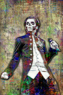 PAPA EMERITUS III Poster, Papa from Ghost Tribute Print 12x18inch Free Shipping
