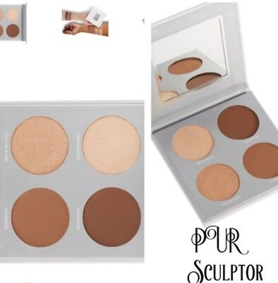Pur SCULPTOR PALETTE Two High Beam Highlighters, Two Matte Contours NEW/SEALED