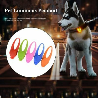 Silicone LED Dog Necklace Glowing Collar Light Cat Tags Pet Luminous Pendant