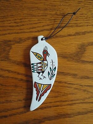 Native American Chile Pepper Christmas Ornament, Pottery