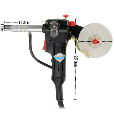 Cable Gun Pull Welding Aluminum Spool Torch With 100cm Miller Durable Feeder