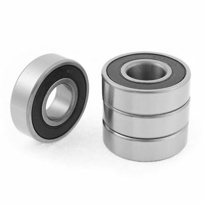 4pcs 20mm x 47mm x 14mm 6204RS Rubber Shielded Deep Groove Ball Bearing