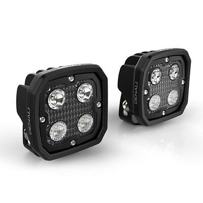 Denali 2.0 D4 Trioptic motorcycle LED spot auxillary driving light pod pair