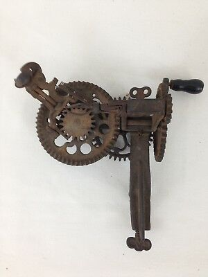 Vintage Antique Late 1800s Sinclair Scott Co Baltimore Cast Iron Apple Peeler