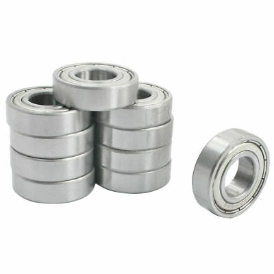 10 Pcs 6002ZZ 15 x 32 x 9mm Single Row Sealed Deep Groove Ball Bearings
