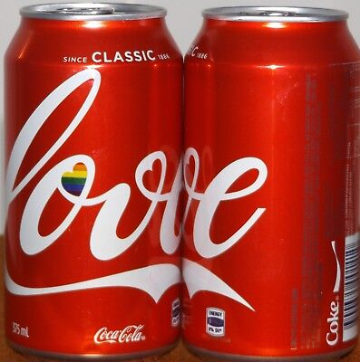 Coca Cola 2017 Love Can Limited Edition Hard To Find