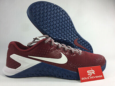 the best attitude abb09 b4941 New Nike Metcon 4 A1122-614 Team Red White Gym Blue   Americana