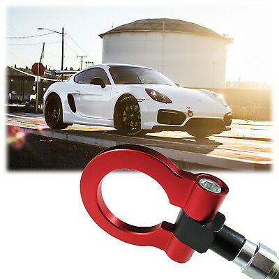 JDM Customized Red Track Racing CNC Aluminum Tow Hook for 2010+ Porsche Panamera