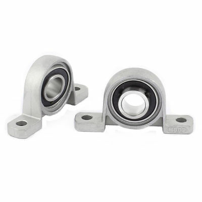 2PCS KP002 15mm Bore Self-aligning Vertical Mounted Flange Bearing Pillow Block