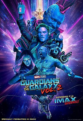 "Guardians of the Galaxy Vol. 2 ORIGINAL S/S 13""x19"" IMAX Movie Poster MINT"