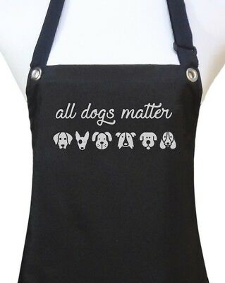 "Dog Grooming Apron ""ALL DOGS MATTER"" pet groomer salon waterproof dog wash new"