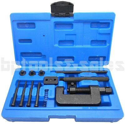 13pc Chain Breaker Riveting Tool Cutter OHV Cam Drive Motorcycle Link Seperator