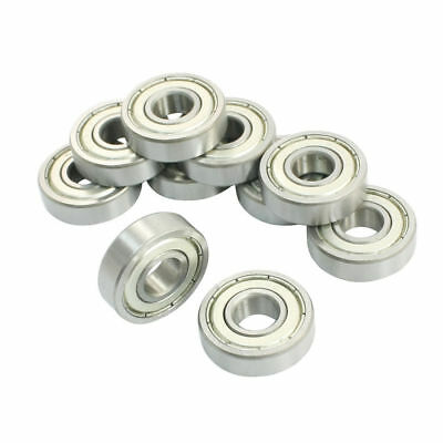 10 Pcs 609ZZ 9 x 24 x 7mm Sealed Mini Deep Groove Radial Ball Bearings