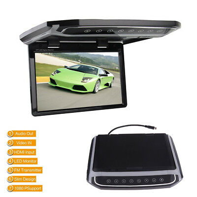 """10.2"""" 1080P HD FM HDMI Car Roof LCD Color Monitor Video Player Atmosphere Lamp"""