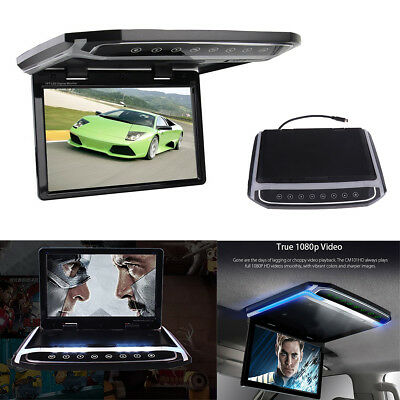 """10.2"""" 1080P HD Car Roof LCD Color Monitor FM Video HDMI SD Card Atmosphere Lamp"""