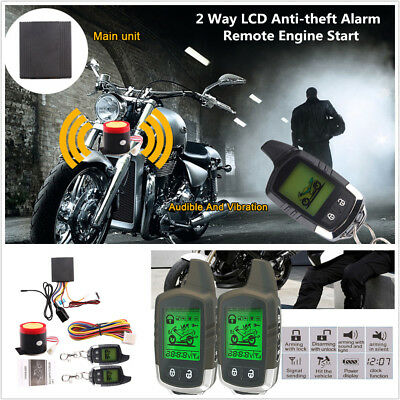 Universal Remote Engine Start Motorcycle 2 Way Alarm Anti-theft Security System