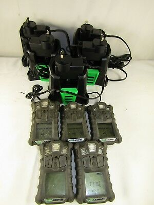 x 5 Five MSA Altair 4x Personal Gas Monitors Plus x 5 Chargers. NEED SENSORS?
