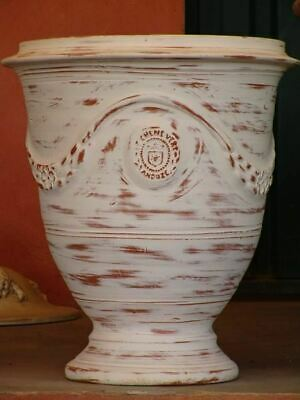 """15"""" French Anduze urn garden planter, set of four, 17 different finishes"""
