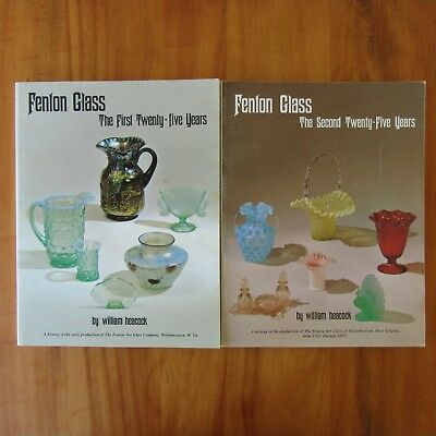 Fenton Glass First Second Twenty-Five Years Identification Guide Books Heacock