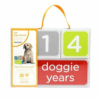 Pearhead Puppy Age Blocks Perfect Photo Prop to Create Keepsakes with your Dog