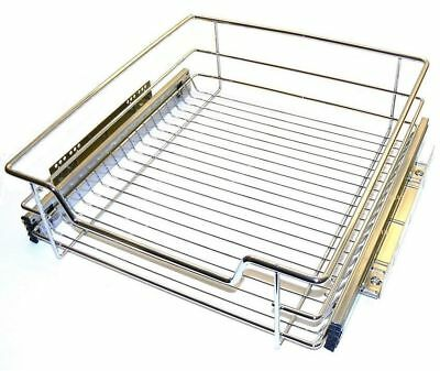 PULL OUT WIRE BASKET 450mm FOR KITCHEN CABINET BASE LARDER CUPBOARD