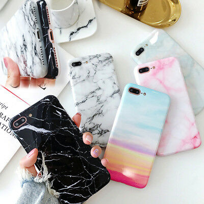 Phone case for iphone XS MAX XR 6s 7 8 plus X Marble Silicone Soft Back Cover