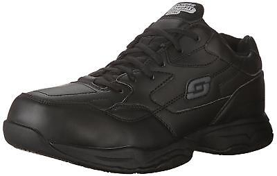 Skechers Felton Work Mens Sneakers Slip Shoes Resist Black Fit 11 Extra Wide US