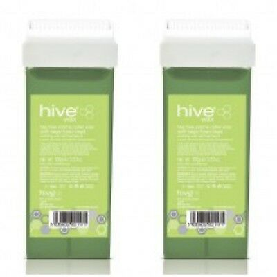 X2Hive Of Beauty Tea Tree Creme Roller Wax Cartridge with Large Fixed Head 100g