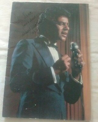 Johnny Mathis Signed Souvenir Programme 1983 with Gil Rogers Autograph