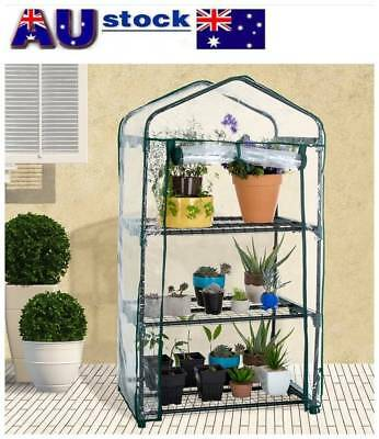 3-5 Tier Greenhouse Steel Frame Plastic PVC Cover Garden Plants Growing Shade AU