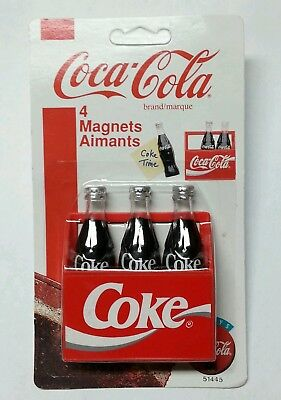 Coca-Cola Refrigerator Magnets Coke Bottles New Unpunched Sealed Card ©1995