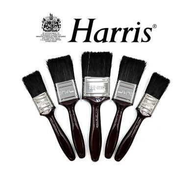 Harris 5 Piece Paint Brush Set Professional Decorating Pure Bristle DIY Brushes