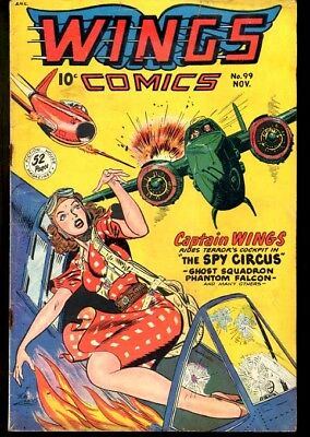 Wings Comics #99-Bob Lubbers Good Girl Art-Fiction Hous Vg