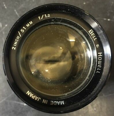 """Vintage Bell & Howell 2"""" 51MM F/1.2 Projector Lens Made In Japan Excellent Cond"""