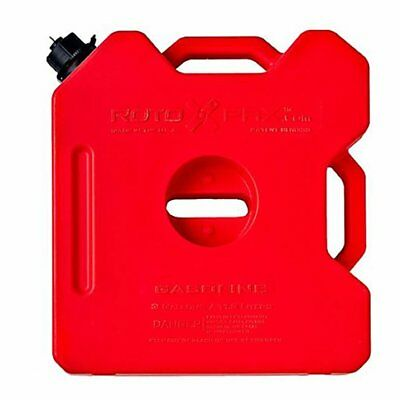 RotopaX Durable Leakproof 3 Gallon EPA Safe Gasoline Container with Spout, Red