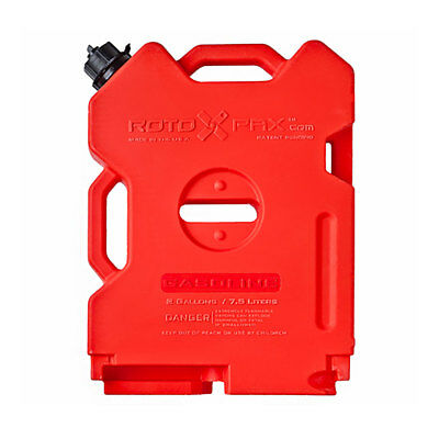 RotopaX Durable Leakproof 2 Gallon EPA Safe Gasoline Container and Spout, Red