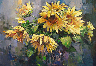 ZOPT570 abstract charm sunflowers 100% hand painted oil painting art canvas
