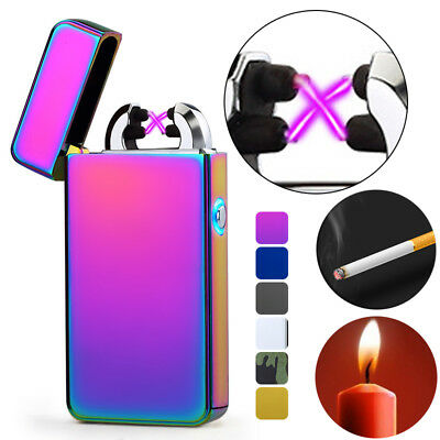Gift Atomic USB Electronic Lighter Dual Arc Flameless Plasma Recharge Windproof