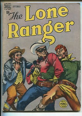 LONE RANGER #15 1949-DELL-FIGHT COVER-YOUNG HAWK-vg