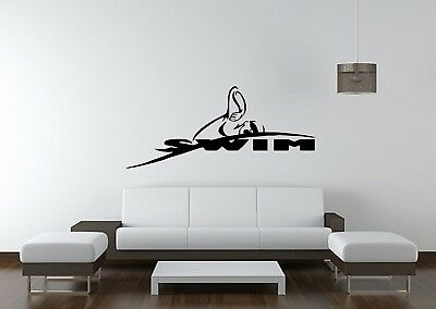 Sports Wall Decals Vinyl Stickers Swimming Pool Signs Swimmer Gift Decor NV166