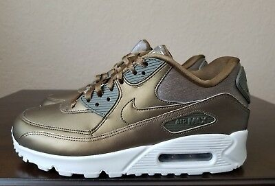reputable site c6870 e736d 🔥🔥NEW Nike Air Max 90 Premium Running Shoes 896497-902 Metallic Womens  Size