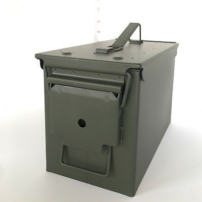 50 Cal Ammo Can, Lockable Weatherproof Metal Box With Gasket