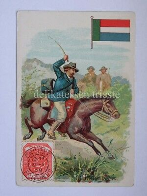 ANTICA FIGURINA antique lito POST POSTMAN postino TRANSVAAL South Africa